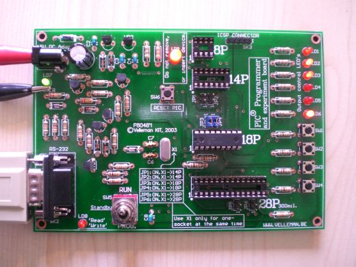 Das PIC programmer and experimentation board