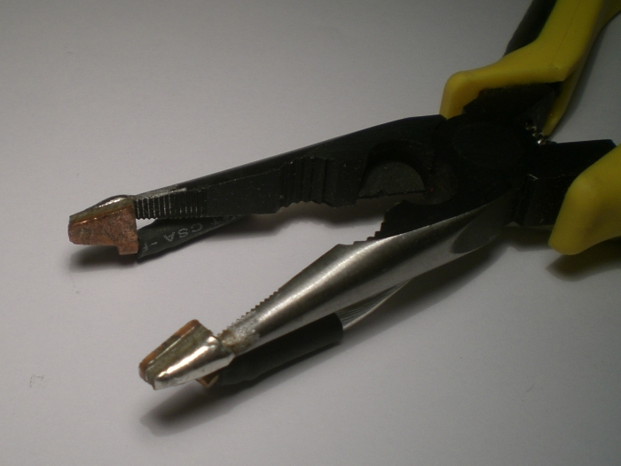 Detail of the welding plier of the Welma2000