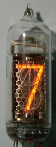The IN-14, a side view Nixie tube