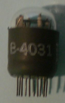 The B-4031 in state of rest